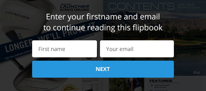 Capture leads within your online flipbook