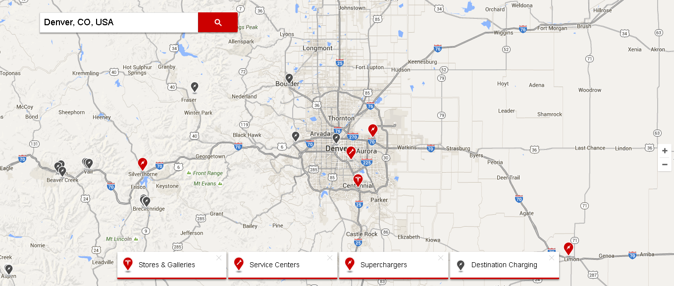 tesla store locator software example