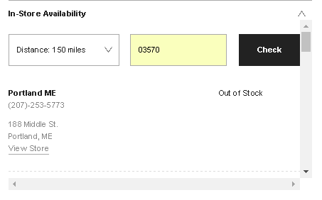 urban outfitters product availability example